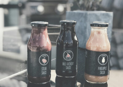 Etiketten-Design Saucen